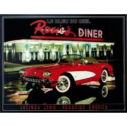 Plaque métal publicitaire 30x40cm plate : Rosie's DINER.