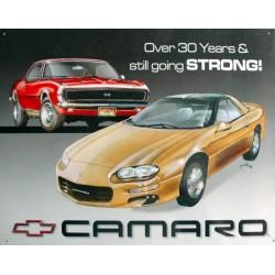Plaque métal publicitaire 30x40cm plate : CAMARO.