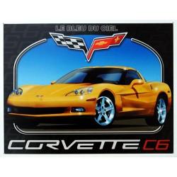 Plaque métal publicitaire 30x40cm plate : CORVETTE C6.