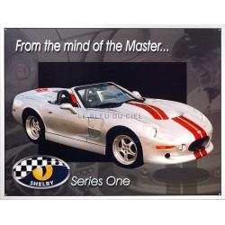 Plaque métal publicitaire 30x40cm plate : SHELBY SERIE ONE.