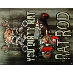 Plaque métal publicitaire 30x40cm plate : RAT ROD.