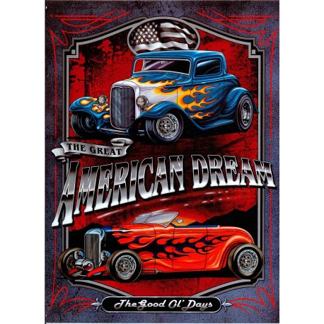 Plaque métal publicitaire 30x40cm plate :  AMERICAN DREAM.