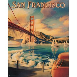 Plaque métal publicitaire 30x40cm plate : SAN FRANCISCO.