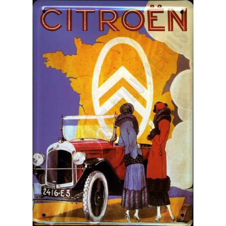 plaque métal publicitaire 30x40cm bombée : Citroën