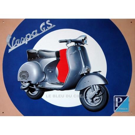 Plaque métal publicitaire 30x40cm plate en relief  :  VESPA G.S.
