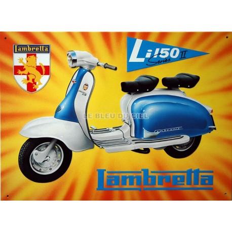 Plaque métal publicitaire 30x40cm plate en relief  :  LAMBRETTA Li50.