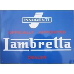 Plaque métal publicitaire 30x40cm plate  :  INNOCENTI LAMBRETTA.