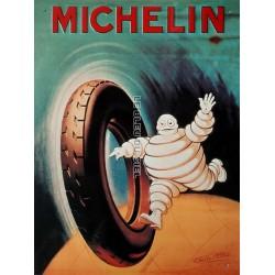 Plaque métal publicitaire 30x40cm plate en relief : MICHELIN PNEU MOTO.