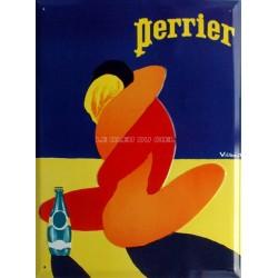 Plaque métal publicitaire 30x40cm bombée : Perrier.