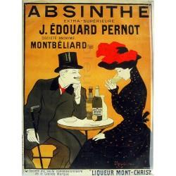 Plaque métal  publicitaire plate  30x40cm plate :  Absinthe J. ÉDOUARD PERNOT