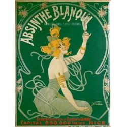 Plaque métal  publicitaire plate  30x40cm plate :  Absinthe BLANQUI