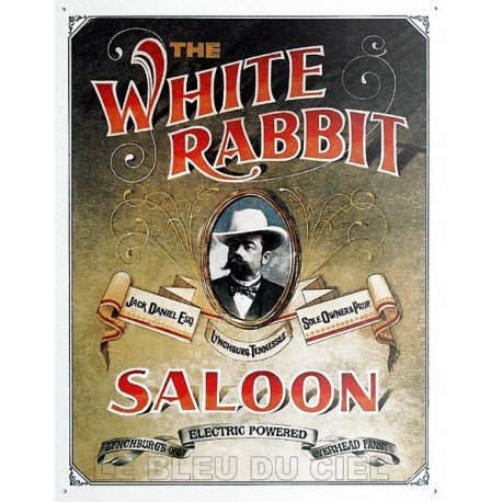 Plaque métal publicitaire 30x40cm plate : THE WHITE RABBIT.