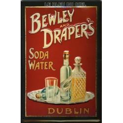 Plaque métal publicitaire 20x30cm bombée en relief : BEWLEY AND DRAPER'S.