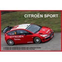 Décoration garage : plaque publicitaire 20x30cm bombée . Citroën sport.
