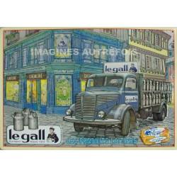 Plaque métal  publicitaire 30x40cm plate relief  : LEGALL