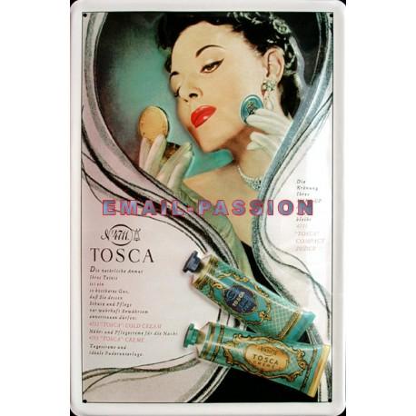Plaque métal publicitaire 20x30cm bombée en relief : TOSCA 4711.