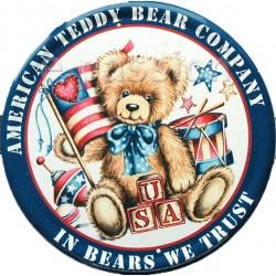 Plaque métal publicitaire diam. 30cm plate : Teddy Bear