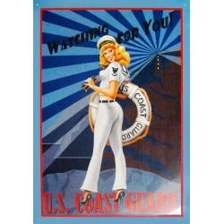 Plaque métal publicitaire 30x40cm plate : US COAST GUARD.