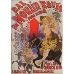 Plaque métal publicitaire 30x40 cm plate  : Bal au  Moulin Rouge.