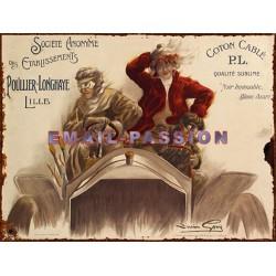 Plaque métal publicitaire 24x32 cm plate : COTON CABLÉ.