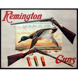 Plaque métal publicitaire 30x40cm plate : REMINGTON.