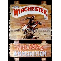 Plaque métal publicitaire 30x40cm plate : WINCHESTER FIREARMS.