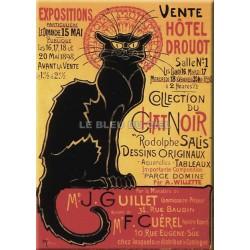 Plaque métal publicitaire 30x40 cm plate  : EXPOSITION CHAT NOIR