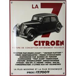 Plaque émaillée :  Citroën LA 7