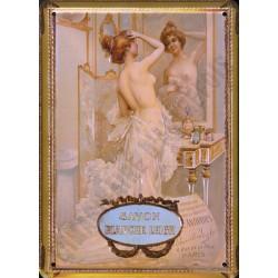 Plaque métal publicitaire 15x21cm plate : Savon Blanche Leigh.