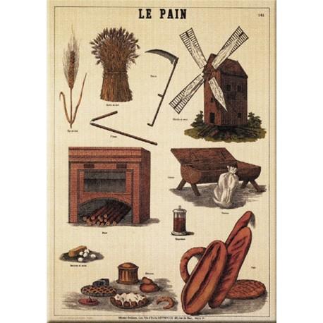 Plaque métal publicitaire 15x21cm bombée :  LE PAIN.