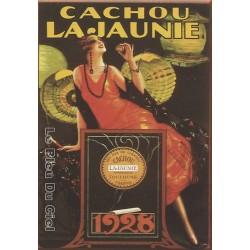 Plaque métal publicitaire 15x21cm bombée :  Cachou Lajaunie