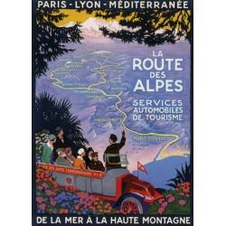 Plaque métal publicitaire 15x21cm plate : La Route des Alpes