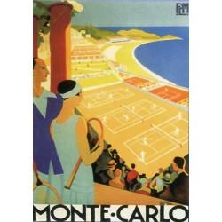 Plaque métal publicitaire 15x21cm plate :  MONTE-CARLO.