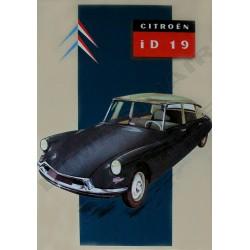 plaque métal publicitaire bombée 15 x 21cm : Citroën ID 19.