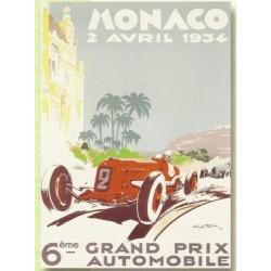 plaque métal publicitaire bombée   15 x 21cm :  MONACO  2 Avril 1934.