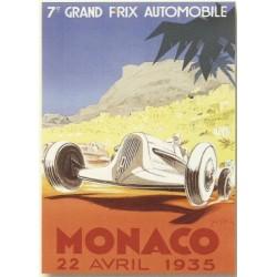 plaque métal publicitaire bombée   15 x 21cm :  MONACO  22 Avril 1935.