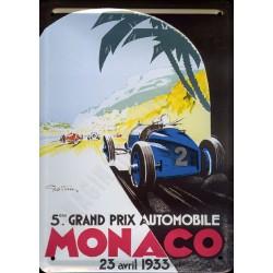 plaque métal publicitaire plate  15 x 21cm : MONACO 23 avril 1933.