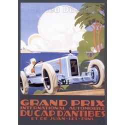 plaque métal publicitaire plate  15 x 21cm : Grand Prix du CAP D'ANTIBES.