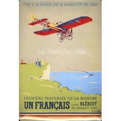 Plaque métal publicitaire 15x21cm bombée : Louis BLÉRIOT