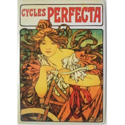 plaque métal publicitaire bombée   15 x 21cm :  Cycles PERFECTA