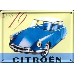 Décoration : Magnet tôle relief dimension 11x8cm CITROEN DS 19