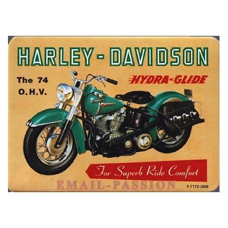 Magnet tôle, plat dimension 6x8cm HARLEY DAVIDSON