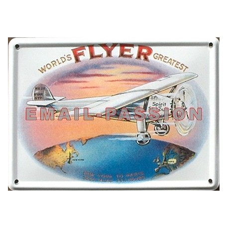 Décoration intérieure : Magnet tôle, plat dimension 11x8cm FLYER