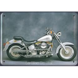 plaque métal relief   dimension 10x15cm : HARLEY DAVIDSON