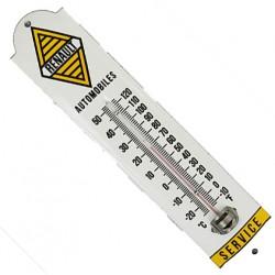 Thermomètre émaillé bombé hauteur 30cm :  RENAULT.