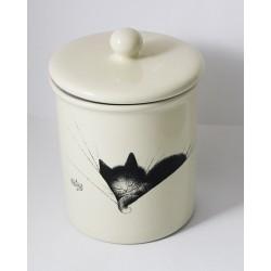"""Petit Pot chat par Dubout céramique """"gros dodo"""" dim : 15 x 11,5 cm"""