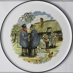 Plat émaillé à Tarte ou à Fromage collection BRETAGNE