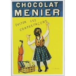Affiche publicitaire à partir d'un calendrier dim : 19.5 x 28cm : Chocolat Menier