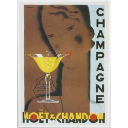 Affiche publicitaire à partir d'un calendrier dim : 20 x 28cm : Chapagne Moët et Chandon