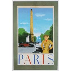Affiche publicitaire à partir d'un calendrier dim : 18.5 x 28cm : PARIS.